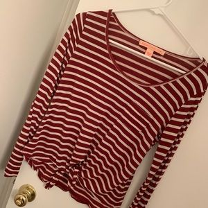 Rebellious one long sleeve top size small